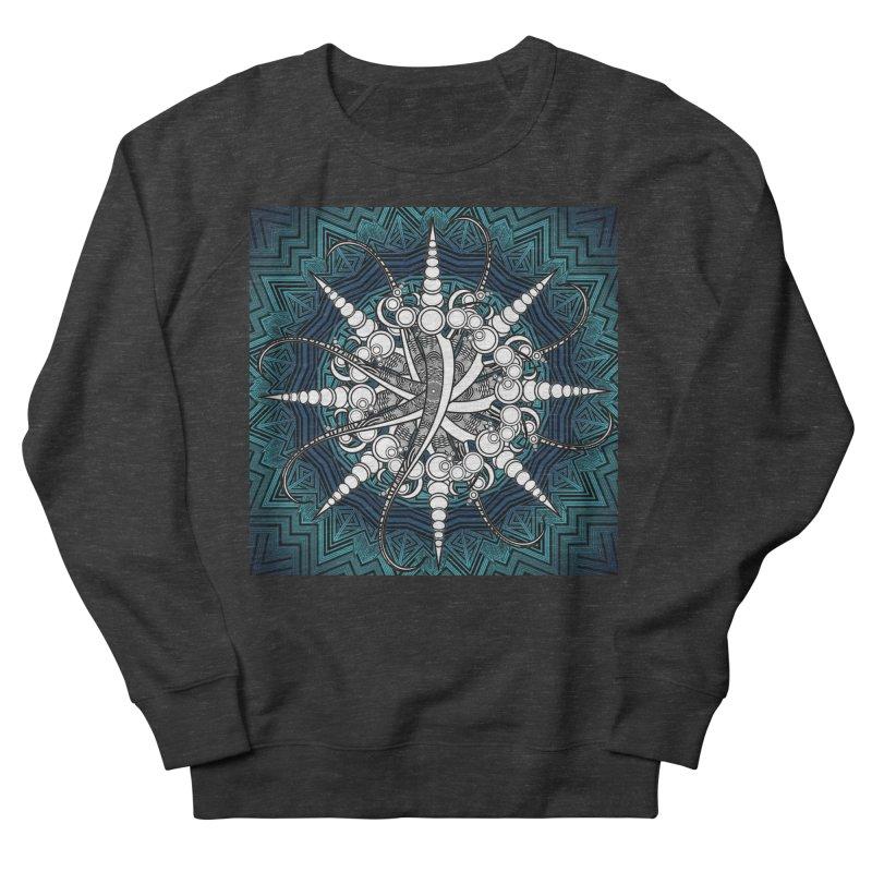 Curved Sword Mandala Men's French Terry Sweatshirt by Rocain's Artist Shop