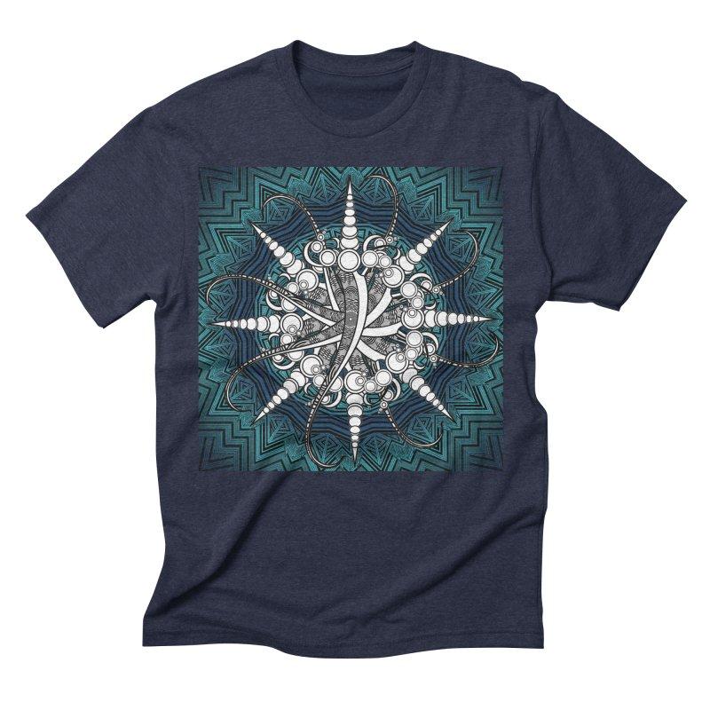Curved Sword Mandala Men's Triblend T-Shirt by Rocain's Artist Shop