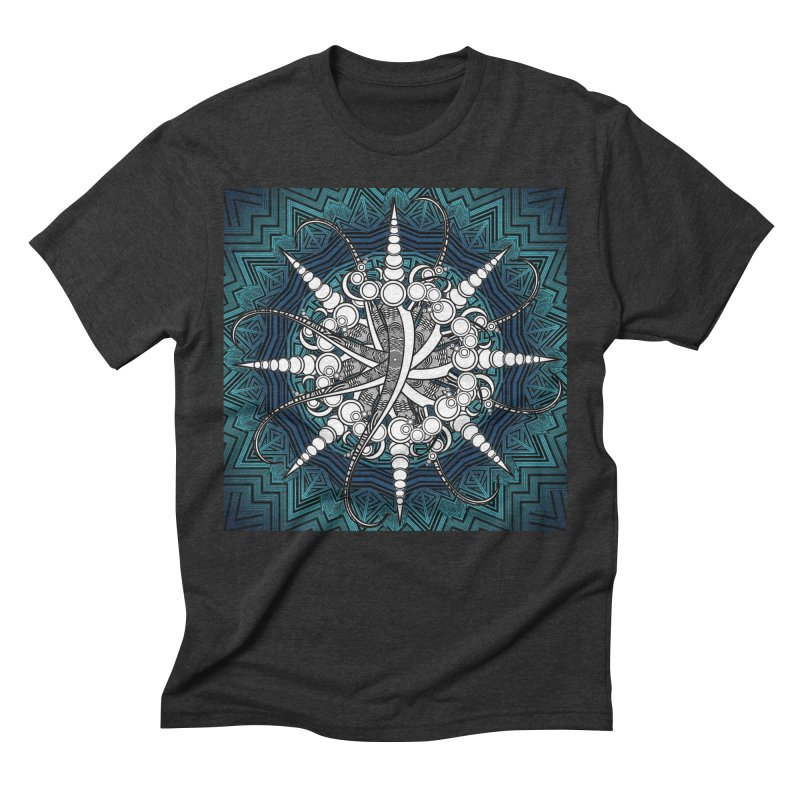 Curved Sword Mandala Men's Triblend T-Shirt by Rocain's Artist Shop