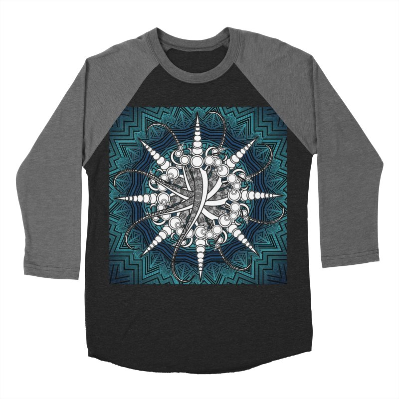 Curved Sword Mandala Men's Baseball Triblend Longsleeve T-Shirt by Rocain's Artist Shop