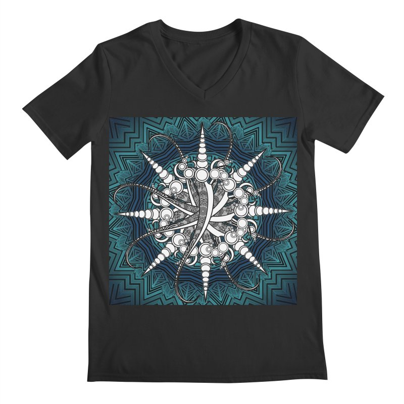 Curved Sword Mandala Men's Regular V-Neck by Rocain's Artist Shop