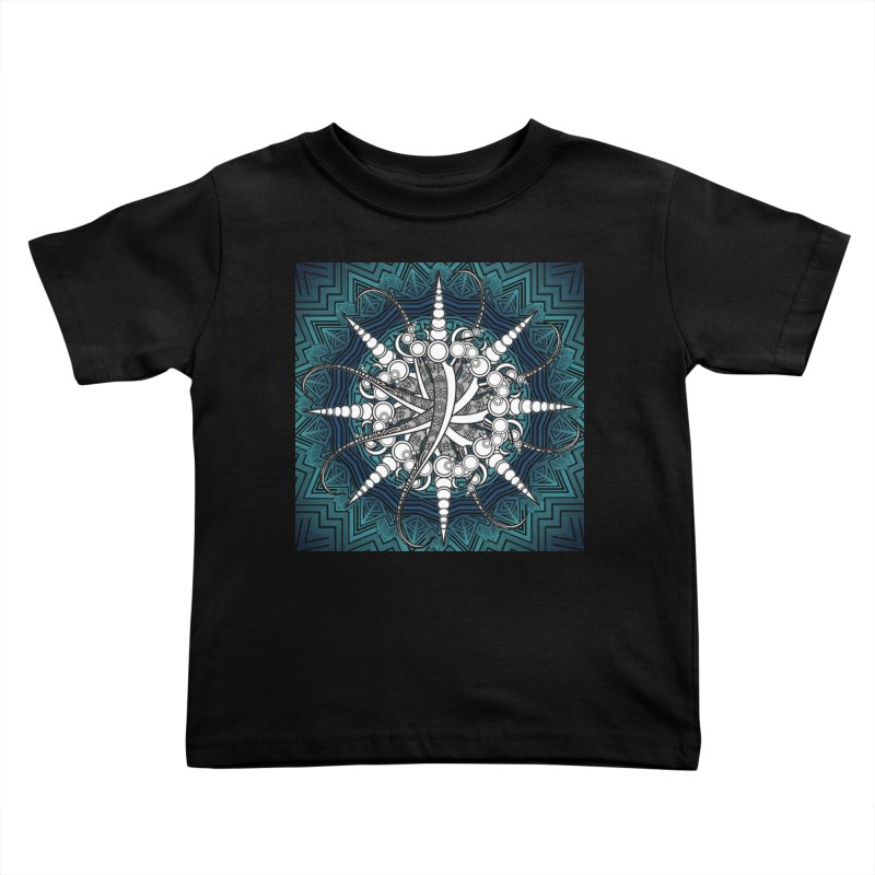 Curved Sword Mandala Kids Toddler T-Shirt by Rocain's Artist Shop