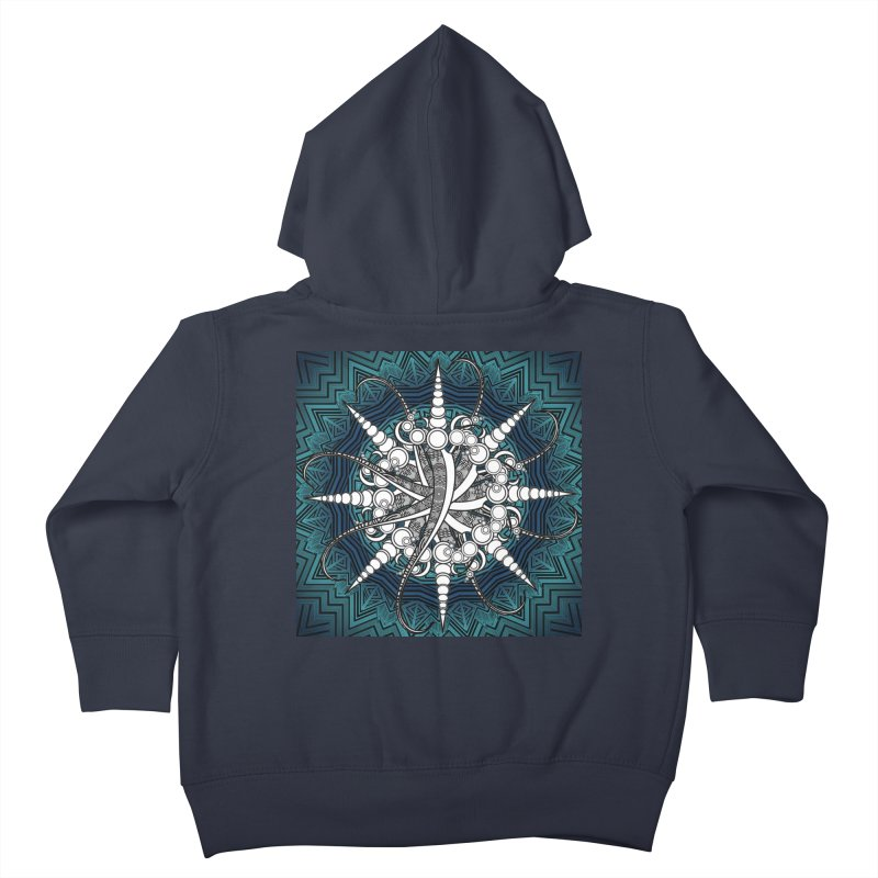 Curved Sword Mandala Kids Toddler Zip-Up Hoody by Rocain's Artist Shop