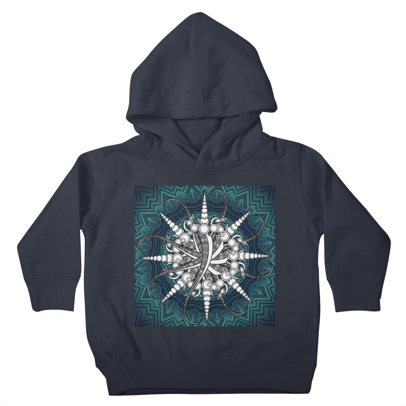 Curved Sword Mandala Kids Toddler Pullover Hoody by Rocain's Artist Shop