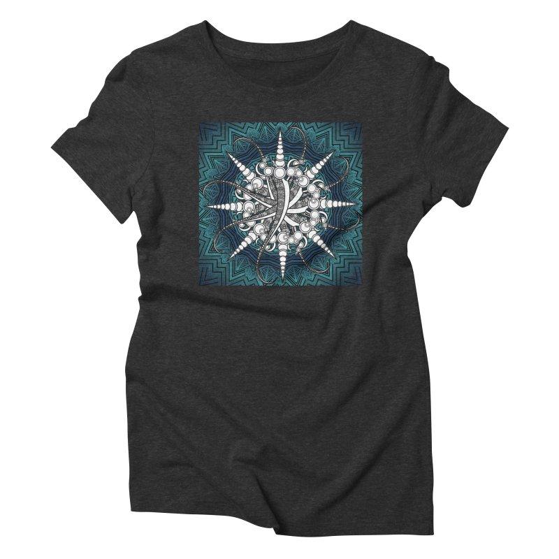 Curved Sword Mandala Women's Triblend T-Shirt by Rocain's Artist Shop