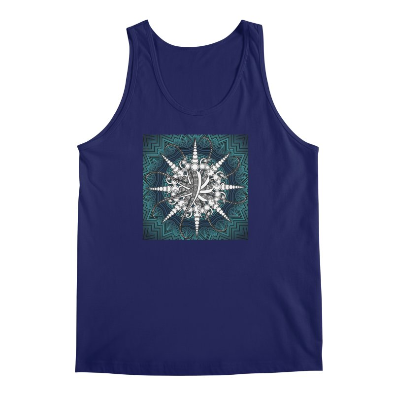 Curved Sword Mandala Men's Regular Tank by Rocain's Artist Shop