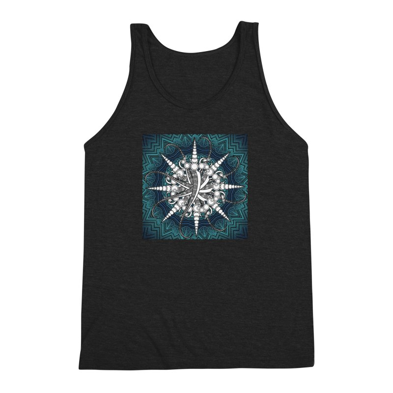 Curved Sword Mandala Men's Triblend Tank by Rocain's Artist Shop