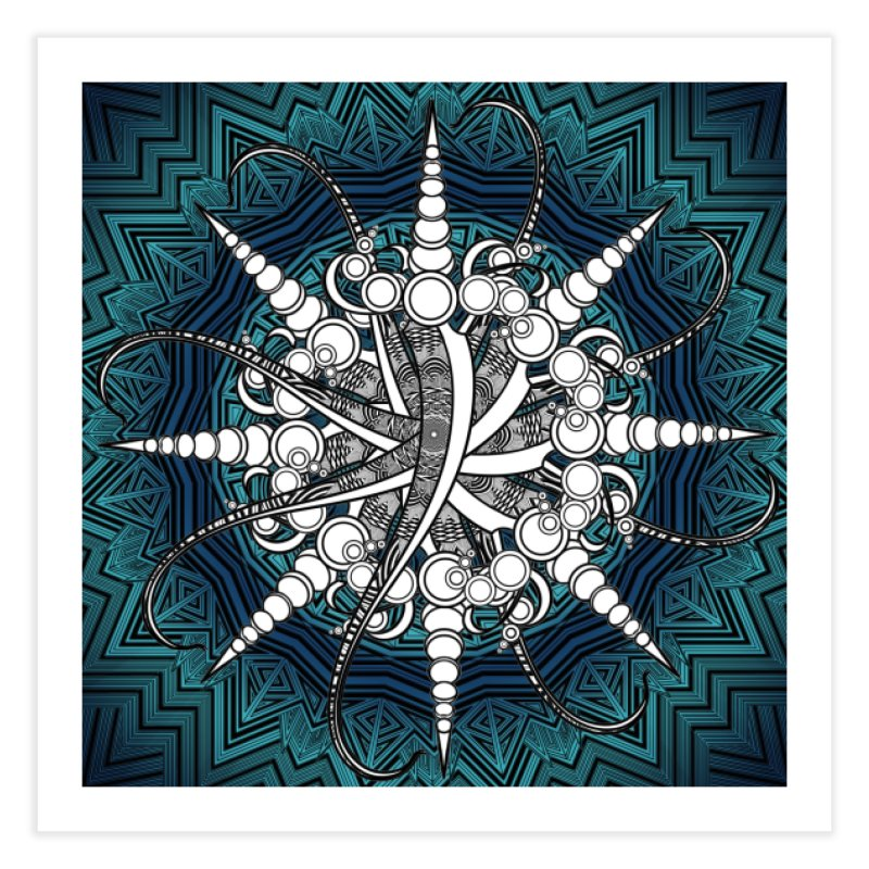 Curved Sword Mandala Home Fine Art Print by Rocain's Artist Shop