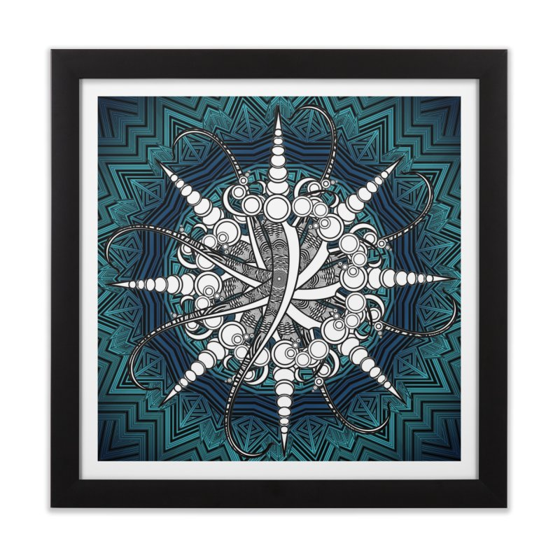Curved Sword Mandala Home Framed Fine Art Print by Rocain's Artist Shop