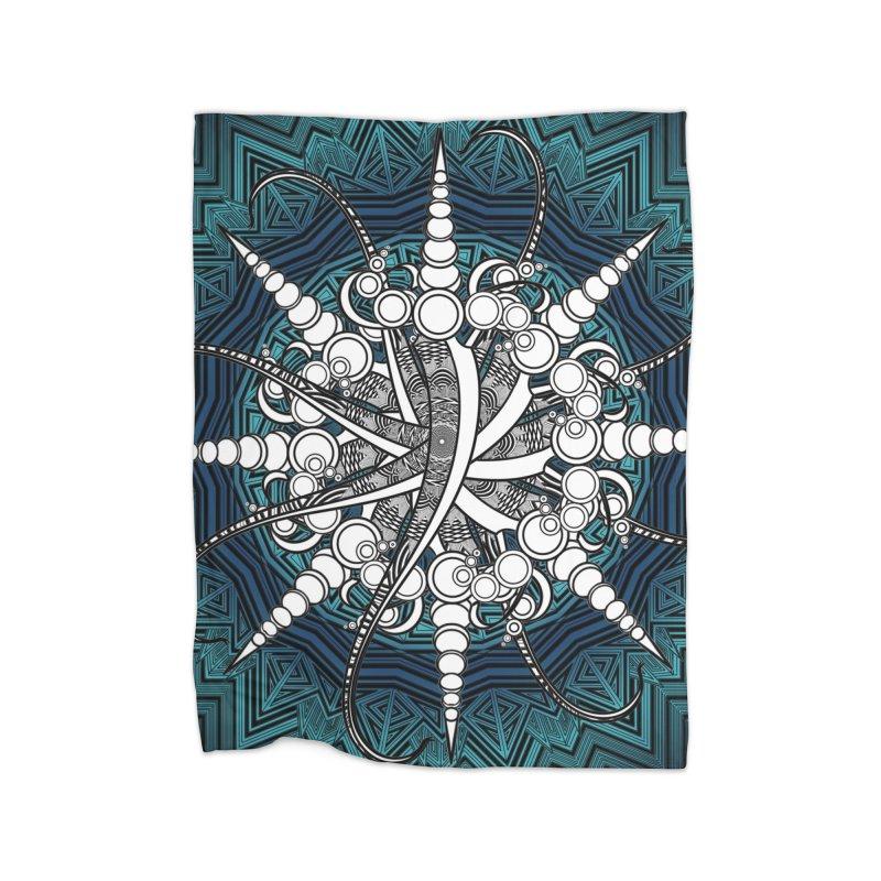 Curved Sword Mandala Home Blanket by Rocain's Artist Shop