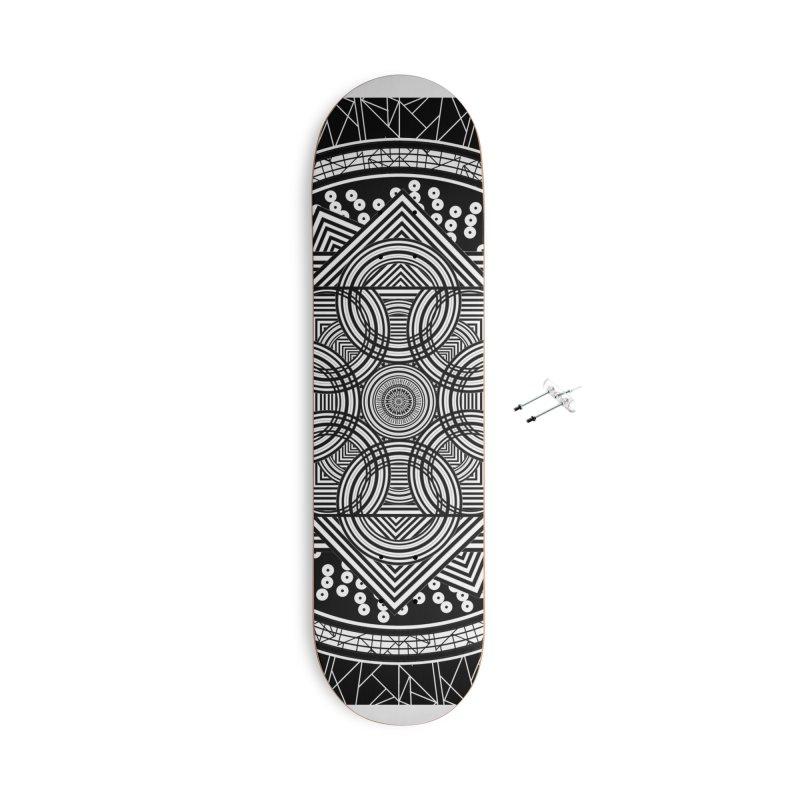 Mandala 18 Accessories Skateboard by Rocain's Artist Shop