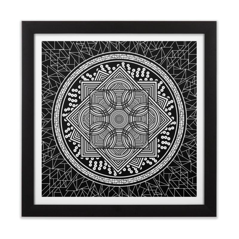 Mandala 18 Home Framed Fine Art Print by Rocain's Artist Shop