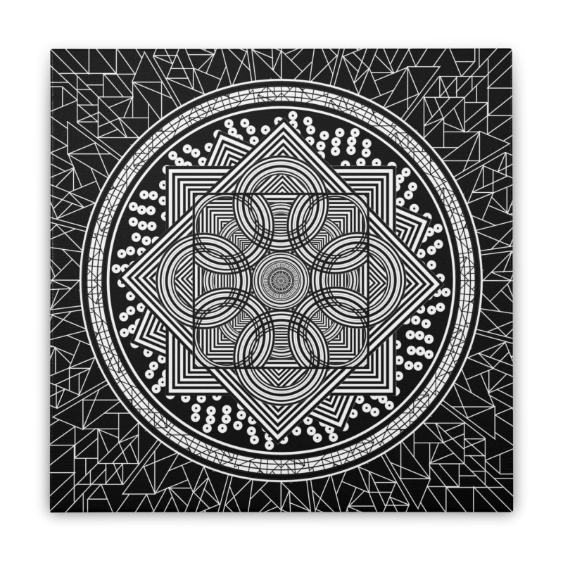 Mandala 18 Home Stretched Canvas by Rocain's Artist Shop