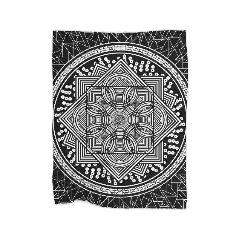 Mandala 18 Home Blanket by Rocain's Artist Shop