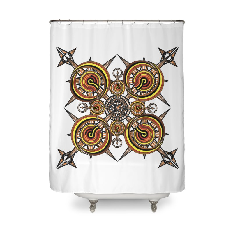 Directions 1 Home Shower Curtain by Rocain's Artist Shop