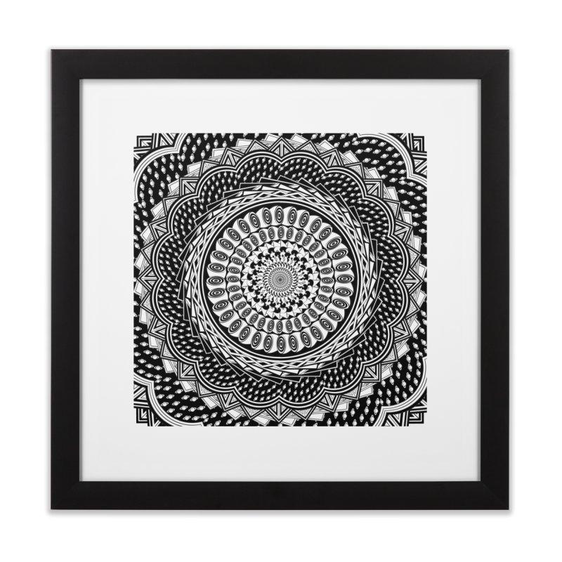 Mandala 3 Home Framed Fine Art Print by Rocain's Artist Shop