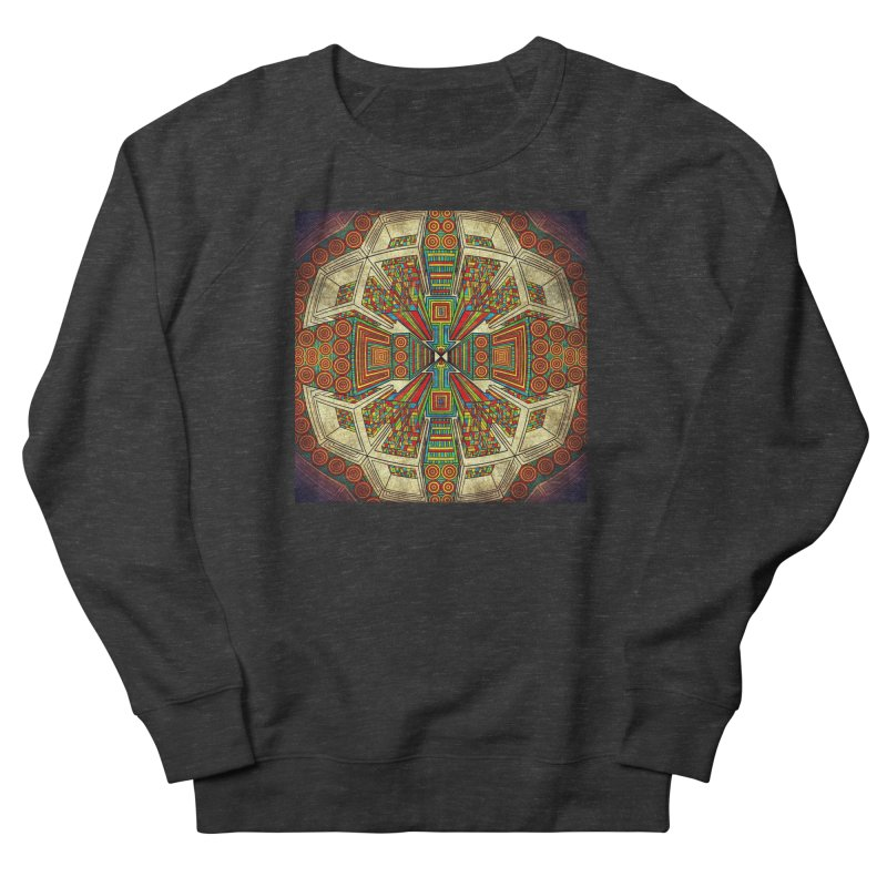 Perspective Men's French Terry Sweatshirt by Rocain's Artist Shop