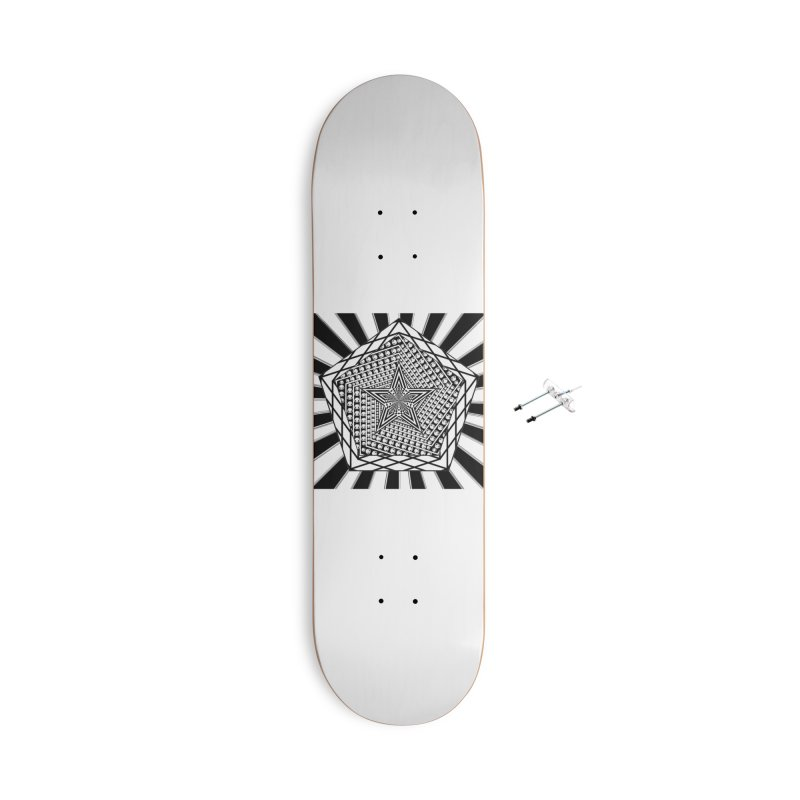 5 pointed Star Accessories Skateboard by Rocain's Artist Shop