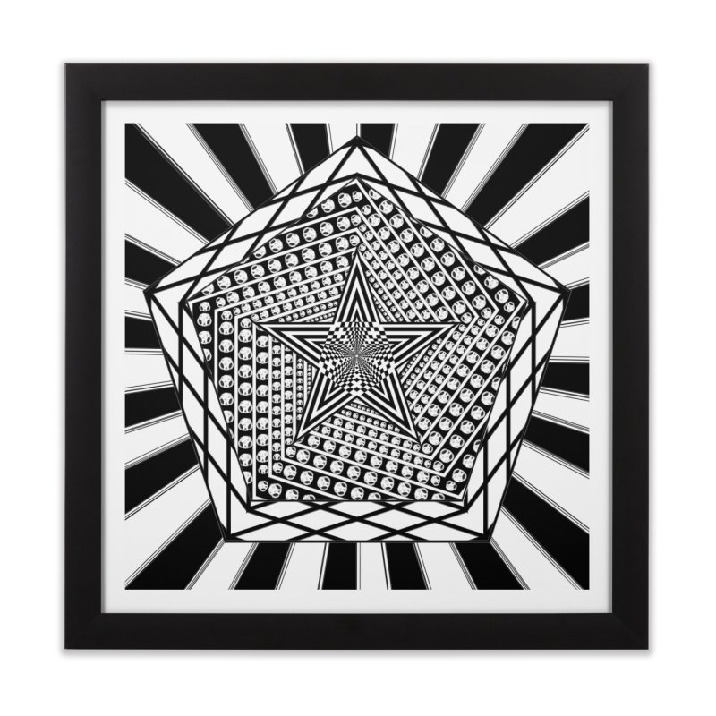 5 pointed Star Home Framed Fine Art Print by Rocain's Artist Shop