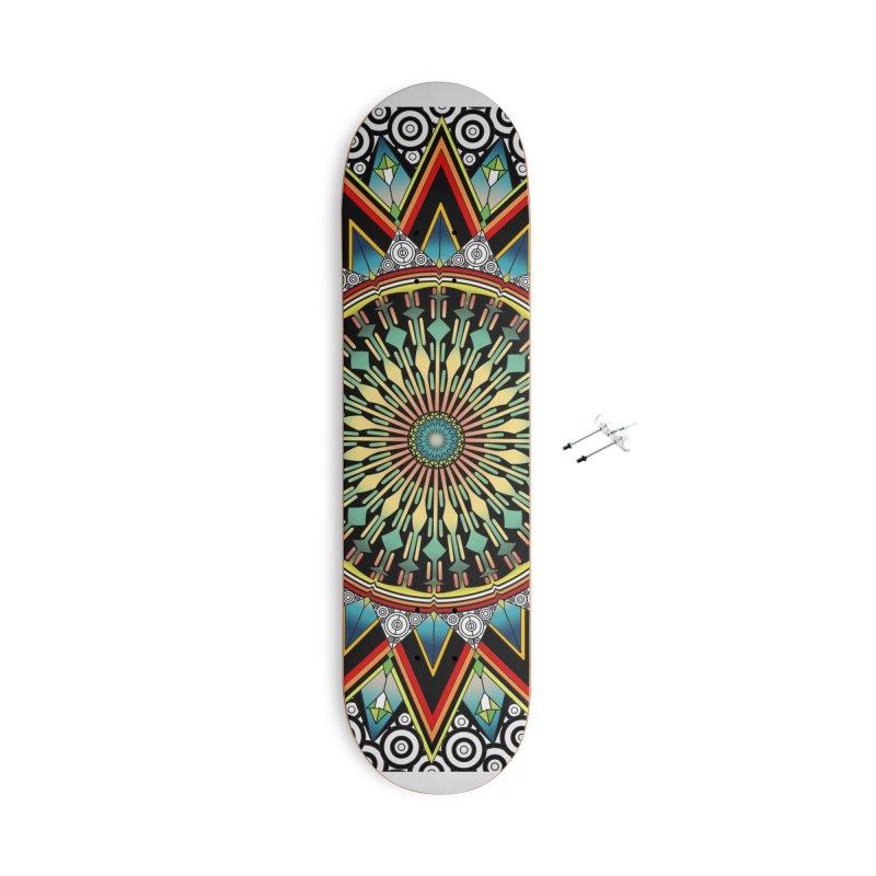 Mandala 21 Accessories Skateboard by Rocain's Artist Shop