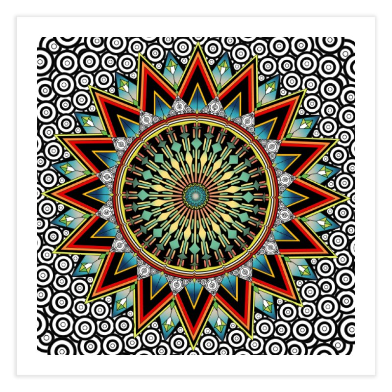 Mandala 21 Home Fine Art Print by Rocain's Artist Shop