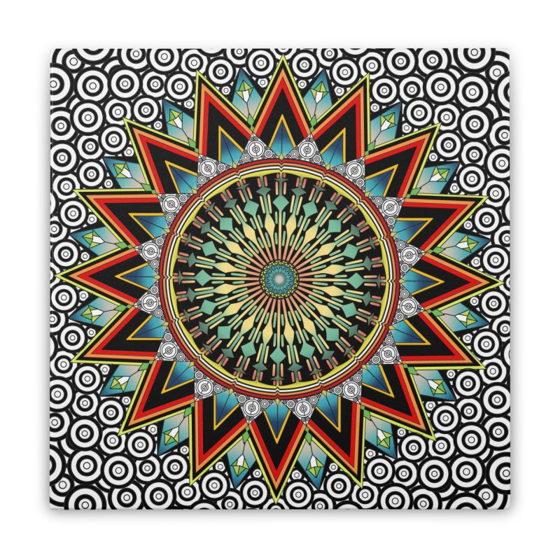 Mandala 21 Home Stretched Canvas by Rocain's Artist Shop