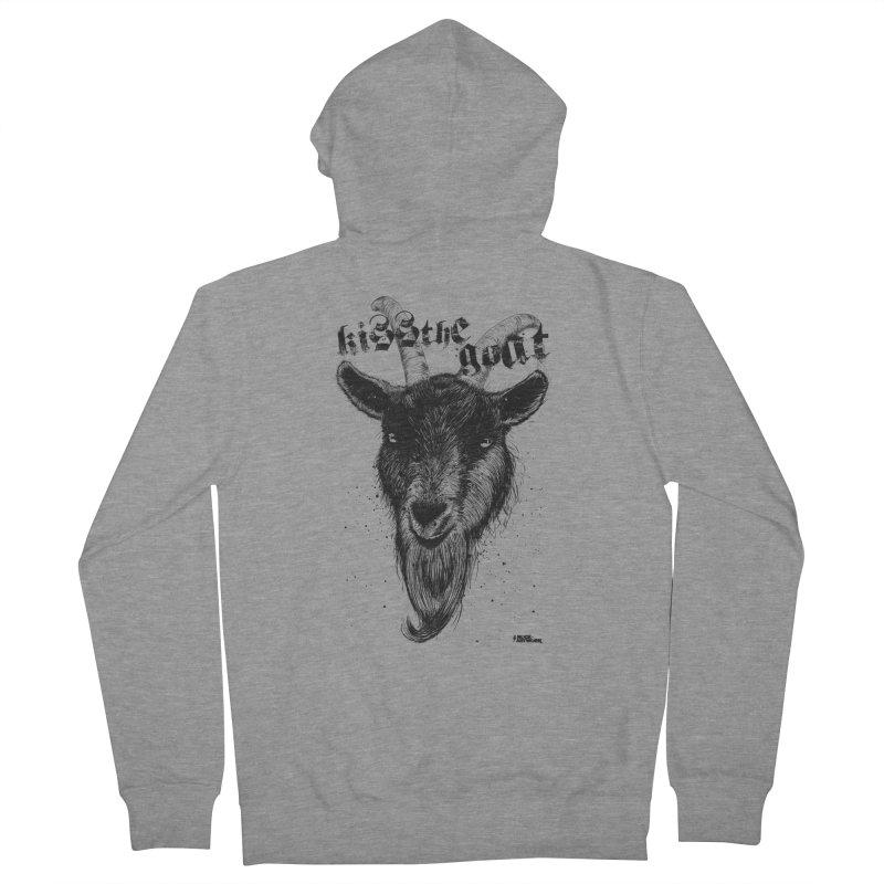 Kiss The Goat Men's Zip-Up Hoody by ROCK ARTWORK | T-shirts & apparels
