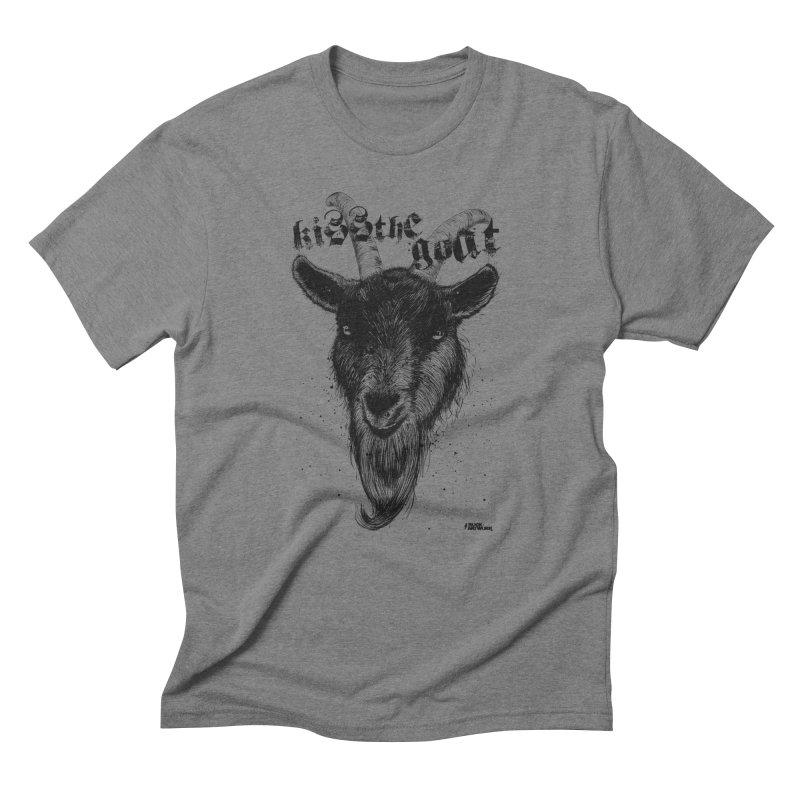 Kiss The Goat Men's T-Shirt by ROCK ARTWORK | T-shirts & apparels
