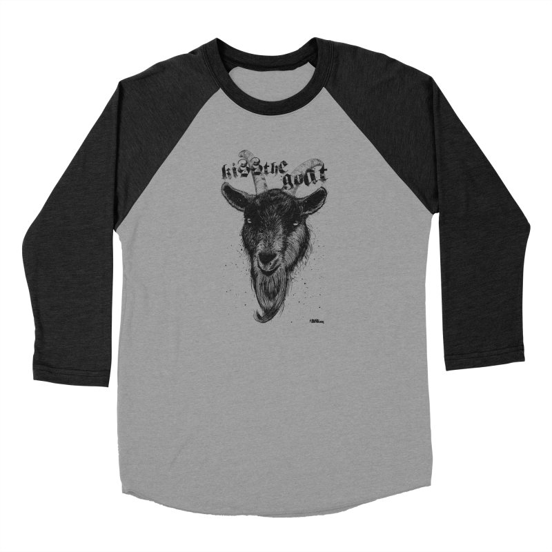Kiss The Goat Women's Baseball Triblend Longsleeve T-Shirt by ROCK ARTWORK | T-shirts & apparels
