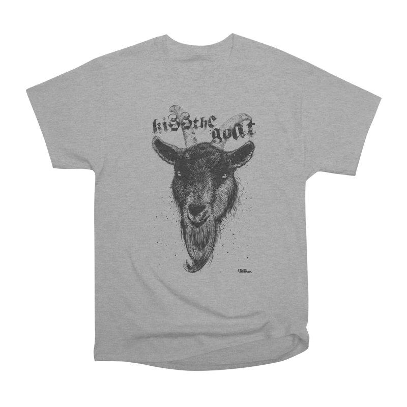 Kiss The Goat Men's Heavyweight T-Shirt by ROCK ARTWORK | T-shirts & apparels