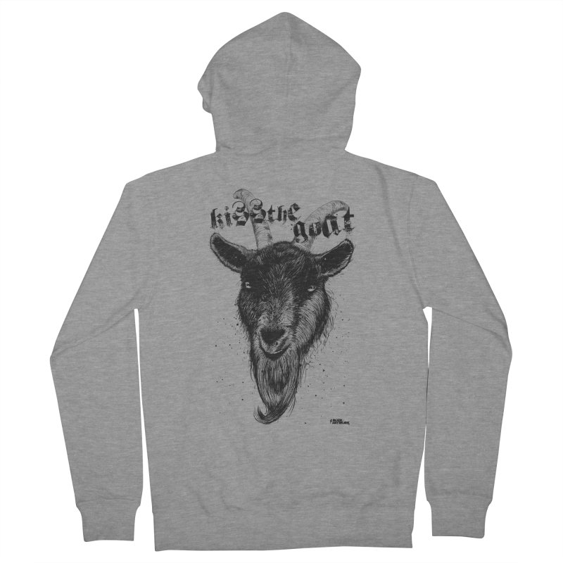 Kiss The Goat Women's French Terry Zip-Up Hoody by ROCK ARTWORK | T-shirts & apparels