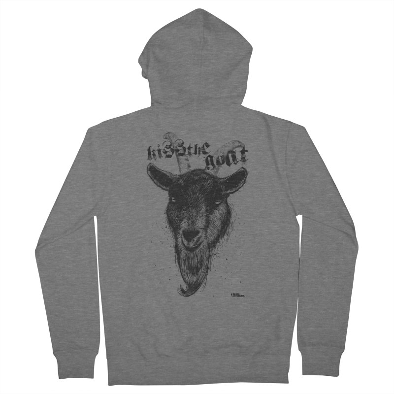 Kiss The Goat Men's French Terry Zip-Up Hoody by ROCK ARTWORK | T-shirts & apparels