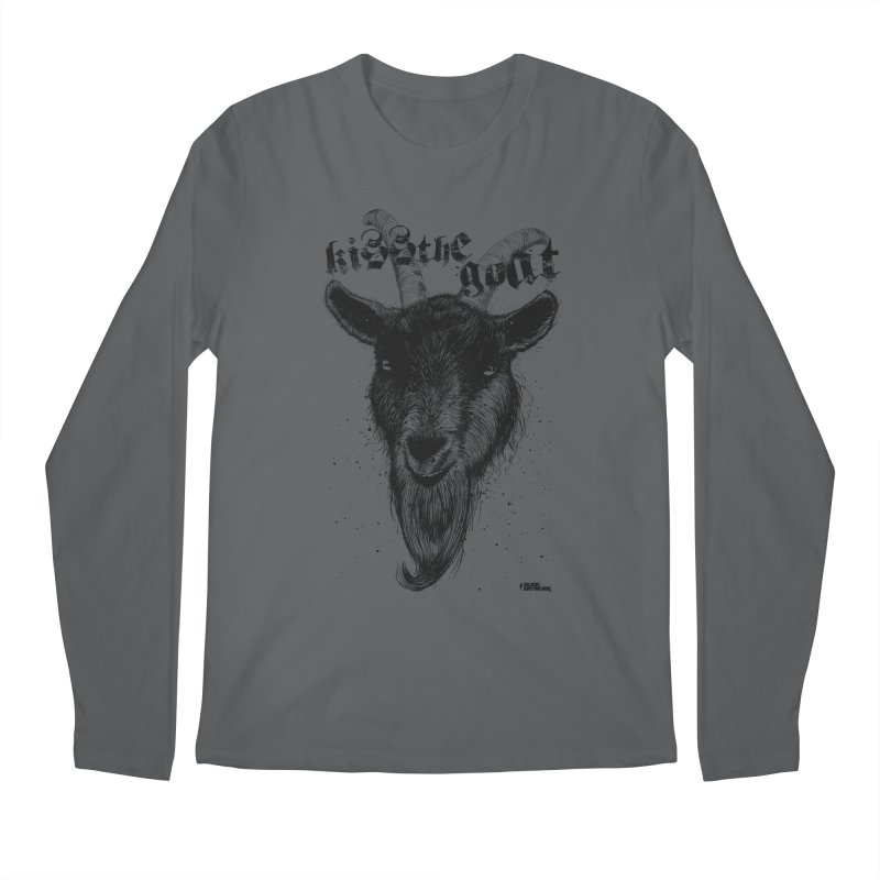 Kiss The Goat Men's Regular Longsleeve T-Shirt by ROCK ARTWORK | T-shirts & apparels