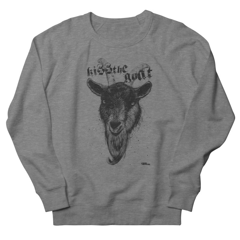 Kiss The Goat Men's French Terry Sweatshirt by ROCK ARTWORK | T-shirts & apparels