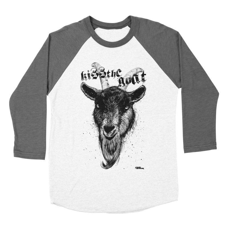Kiss The Goat Women's Baseball Triblend Longsleeve T-Shirt by ROCK ARTWORK | T-shirts & apparels