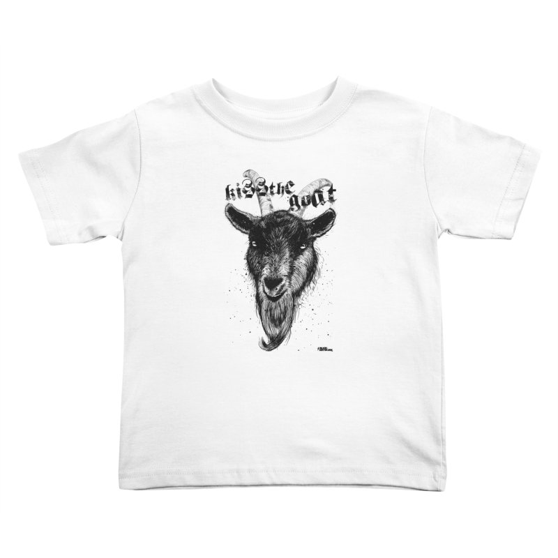 Kiss The Goat Kids Toddler T-Shirt by ROCK ARTWORK | T-shirts & apparels