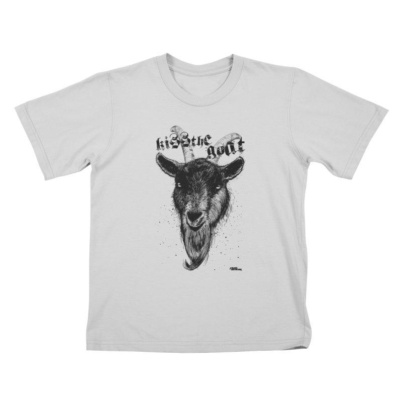 Kiss The Goat Kids T-Shirt by ROCK ARTWORK   T-shirts & apparels