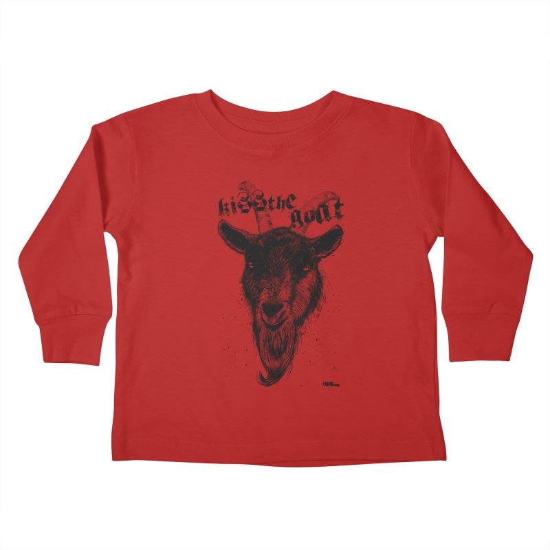 Kiss The Goat Kids Toddler Longsleeve T-Shirt by ROCK ARTWORK | T-shirts & apparels