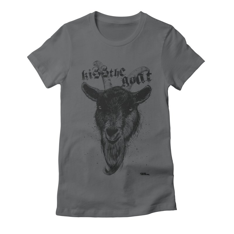Kiss The Goat Women's Fitted T-Shirt by ROCK ARTWORK | T-shirts & apparels