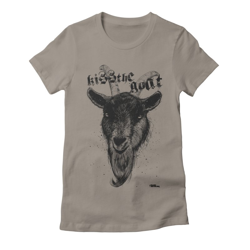 Kiss The Goat Women's T-Shirt by ROCK ARTWORK | T-shirts & apparels
