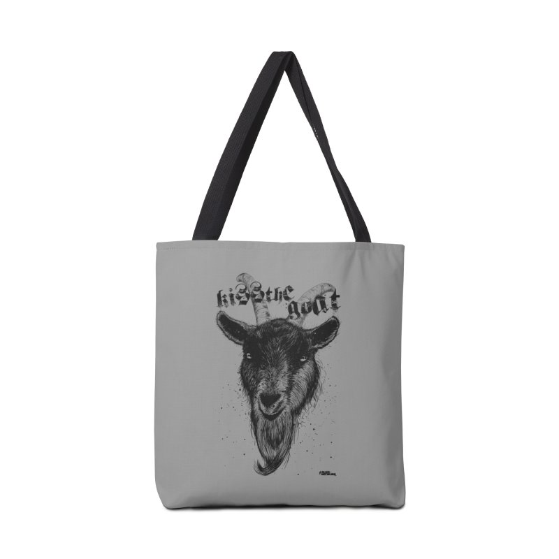 Kiss The Goat Accessories Tote Bag Bag by ROCK ARTWORK | T-shirts & apparels