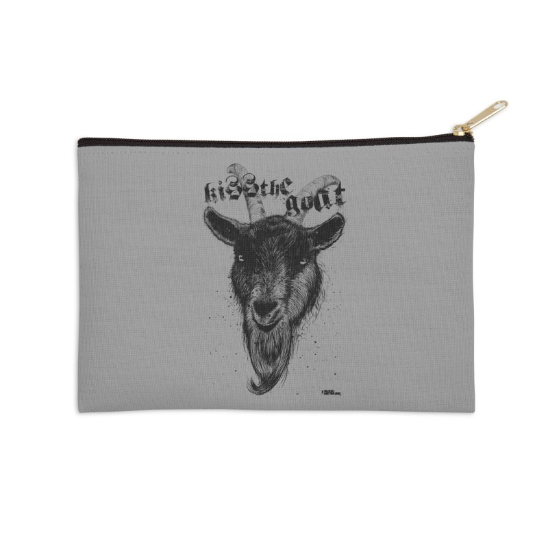 Kiss The Goat Accessories Zip Pouch by ROCK ARTWORK | T-shirts & apparels