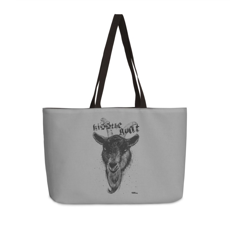 Kiss The Goat Accessories Weekender Bag Bag by ROCK ARTWORK | T-shirts & apparels