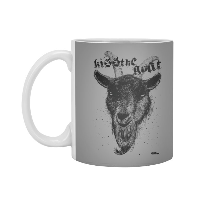 Kiss The Goat Accessories Mug by ROCK ARTWORK | T-shirts & apparels