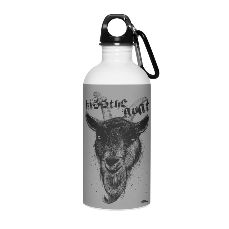 Kiss The Goat Accessories Water Bottle by ROCK ARTWORK | T-shirts & apparels
