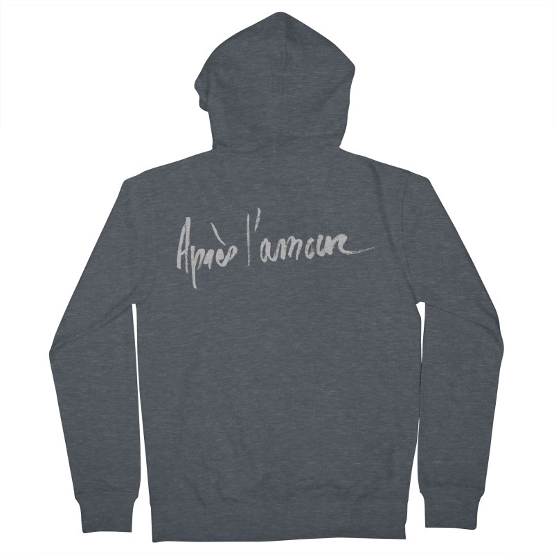 après l'amour Men's Zip-Up Hoody by ROCK ARTWORK   T-shirts & apparels