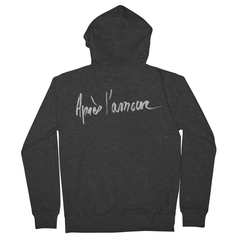 après l'amour Men's French Terry Zip-Up Hoody by ROCK ARTWORK | T-shirts & apparels