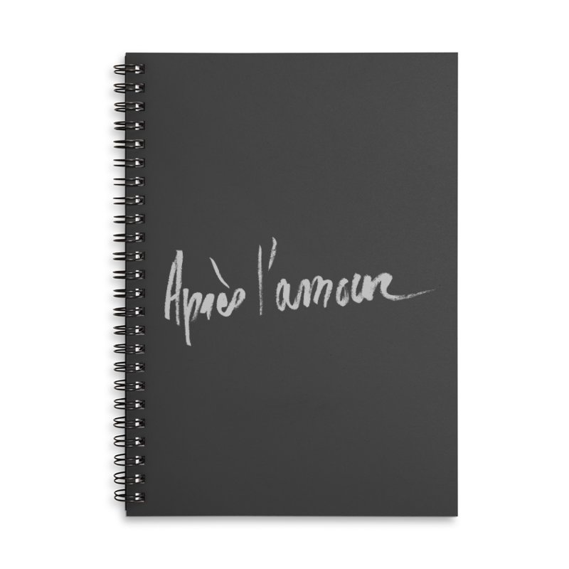 après l'amour Accessories Lined Spiral Notebook by ROCK ARTWORK | T-shirts & apparels