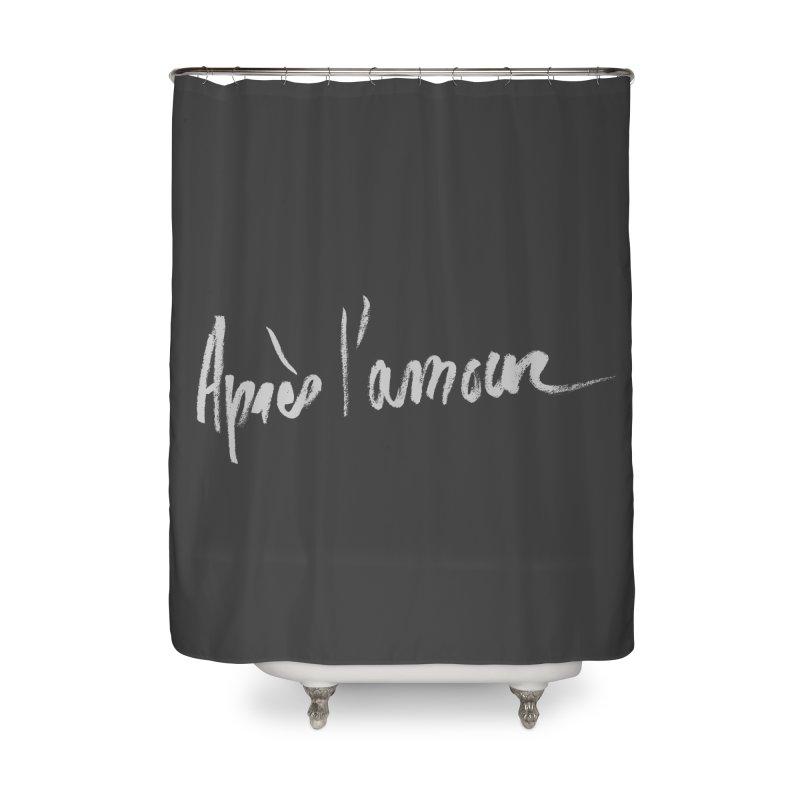 après l'amour Home Shower Curtain by ROCK ARTWORK | T-shirts & apparels