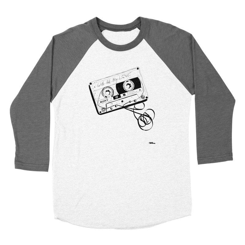 The Love Tape Women's Baseball Triblend Longsleeve T-Shirt by ROCK ARTWORK | T-shirts & apparels